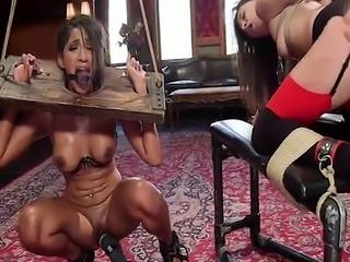 Two babes in extreme bondage banged