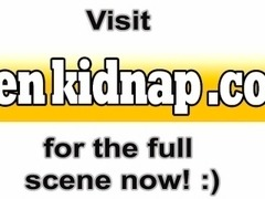 Blonde hippy teen kidnapped and fucked