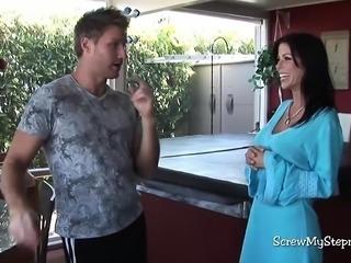 Sexy MILF stepmom fucks son