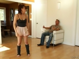 Sexy minx Alison Rey loves giving a man a BJ and she likes it from behind