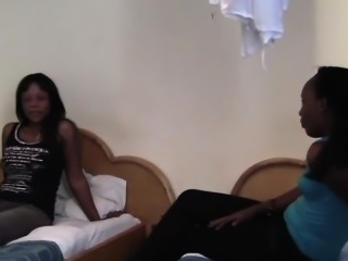 African Lesbians Alisha And Virgin Making Out