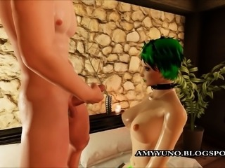 3D Scene Emo Virtual Girl Gets Her Pussy Licked In Dating