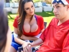 FamilyStrokes - Hot Busty Milf Joins Step-Son For Threesome