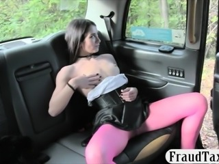 Hot lady asshole banged in the backseat to off her fare