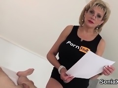 Adulterous british milf lady sonia reveals her monster boobs