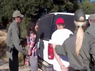 Sexy immigrants fucking horny officer