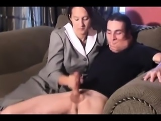 Mature femdom humiliates fetish dude into stripping