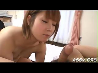 Lusty oriental anal gratifying