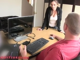 Sexy Florida fucking with boss in the office
