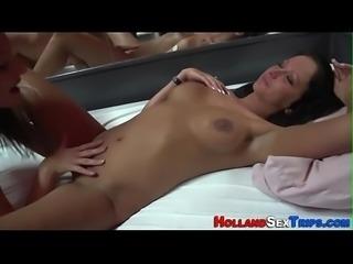 Dutch whore tastes cunt