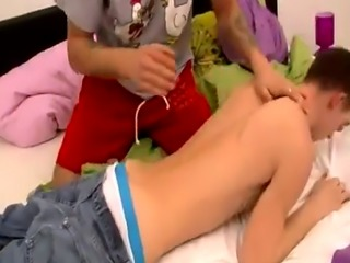 Men who ejaculate during spanking and male slave gay Timmy Gets Taught