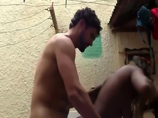 Jasmine is fucked around the house by horny guy