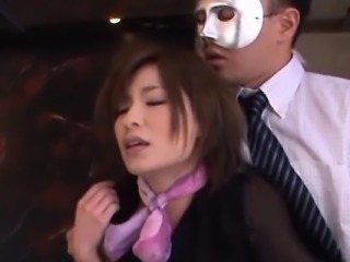 Japan milf gets 2 men to demolish her love holes