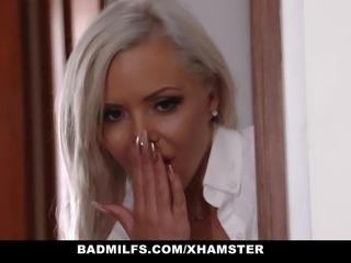 BadMILFS - Hot Blonde Stepmom Seduces Young Boyfriend