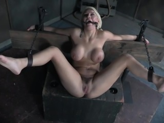 This beautiful blonde MILF has been very naughty. It's time for you to punish her sexually! We have many instruments ready for you, so in what way would you like to make her scream? The choice is yours! Head to our site for more dark BDSM videos featuring our own custom restraints!