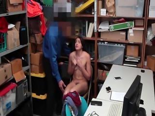 Amateur shoplifter Avi got fucked in the office