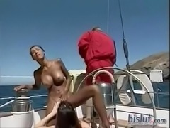 kasorn swan threesome in boat