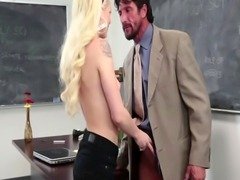 Blonde Teen Riding Teacher Big Dick On Desk