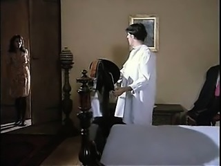Vintage brunette in stockings hot fucking with facial