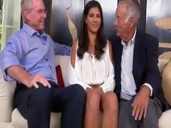 Arab girl and old man hidden cam bald guy gangbang fucking He invited