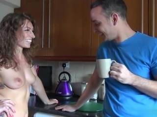 Tattoed beauty Ava Austens fucks with her boyfriend