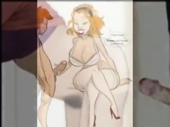 Boys pleasing cougars in cartoon fantasies