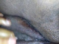 Bbw rubbing ebony pussy til she cums