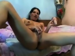 Young school girl masturbate on webcam