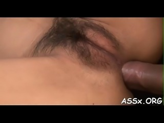 Stretching japanese babe&#039_s anal tunnel
