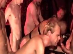 Barebacked dudes cum dump