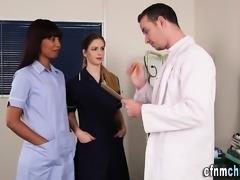 Brit cfnm nurses jerk