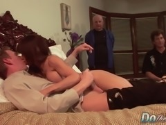 Sexy Jenla Moore fucks while her husband watches
