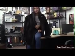 Brunette teen fucked for cash
