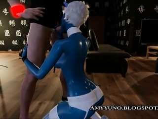 Fantasy Blue Virtual 3D Alien With Big Tits Rides Hard!