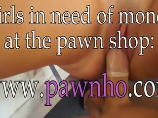 Lovely coed banged by pervert pawn man at the pawnshop