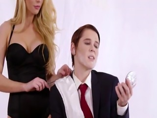 Blonde Kayden Kross reponds with equal aggression to Lily Cade