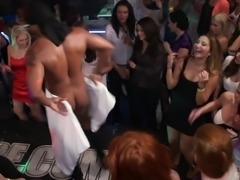 Impassioned party girls go wild in a raging groupsex party