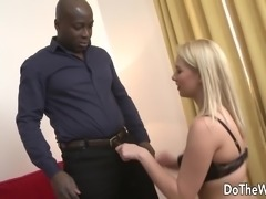 Hot blonde wife takes BBC in her ass