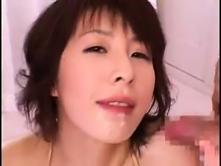 Asian cutie sucks a small cock