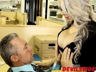 With jugs like that it is hard to concentrate during work