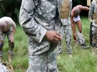 Nudity army schoolboy physical exam gay Jungle tear up fest