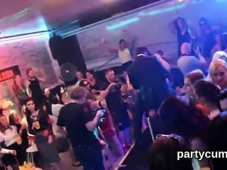 Frisky girls get completely wild and naked at hardcore party