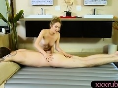 Tight masseuse Angel Smalls gets screwed by pervy client