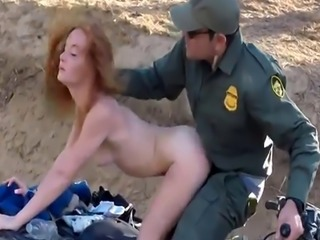Teen masturbation shaved Border Hopping Redhead Loves Cock