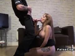Fake cop bangs massive tits cheating wife