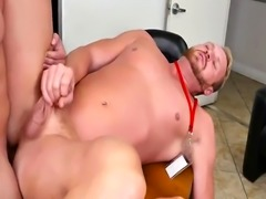 Free gay porn video of twin men First day at work