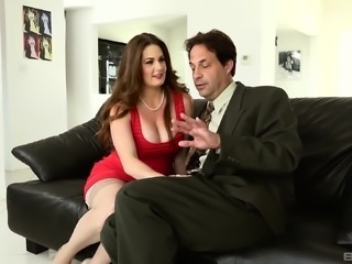 Allison Moore fucked by a stud in front of a kinky couple