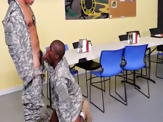 Soldiers get grounded and fucked in classroom