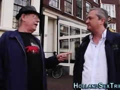 Cock tugging dutch hooker