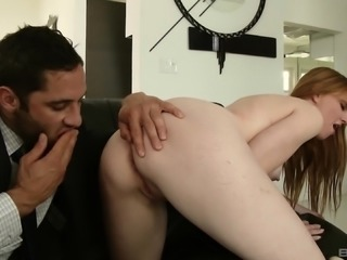 Marie McCray gets naked for a handsome hunk's fat prick